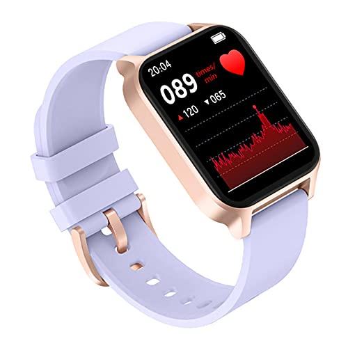 Smartwatch, Reloj Inteligente Hombre Mujer con 1.65' Pantalla TáCtil Completa para PulsóMetro, Monitor De SueñO,PodóMetro, Modo De NatacióN, Pulsera De Actividad para Android iOS,Púrpura