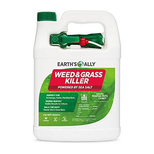 Earth's Ally Weed and Grass Killer Spray | 1 Gallon Ready-to-Use | Natural Non-Selective Herbicide | Environmentally Safe Weed Killer | Pet Safe | Bee Safe | No Glyphosate