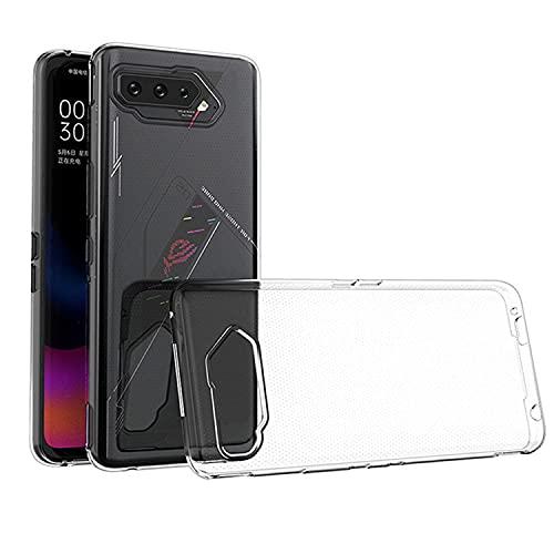 QULLOO Funda para ASUS ROG Phone 5,HD Clara Ultra Fina Silicona Flexible TPU Gel Carcasa Anti- Choques Anti- Arañazos para ASUS ROG Phone 5