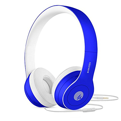 Magnussen Audio W1 hoofdtelefoon, opvouwbaar, verstelbaar, blauw glanzend