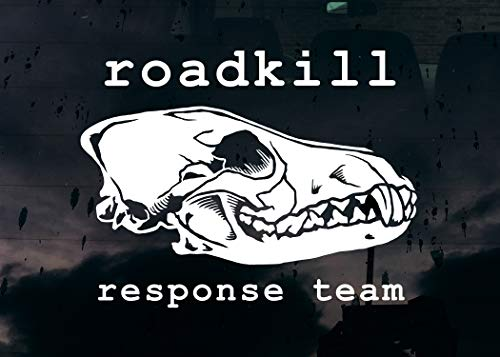 Yilooom Roadkill Response Team Coyote Skull Decal Bumper Sticker Vulture Culture Collector Taxidermy Oddity Bone Laptop Waterbottle Gift 4 inches - 2 Packs