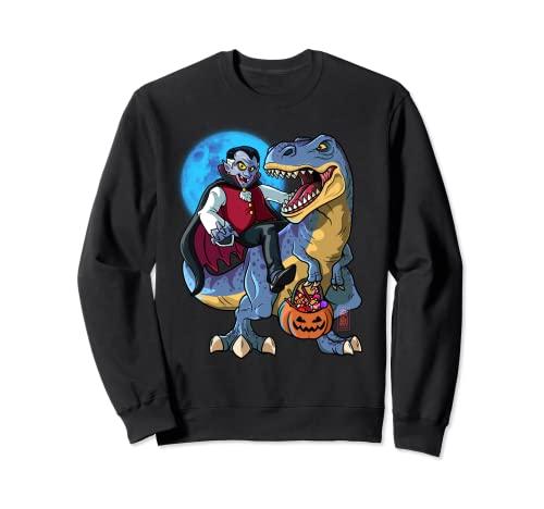 Conde Drcula T-Rex Halloween Nios Dinosaurio T Rex Vampiro Sudadera