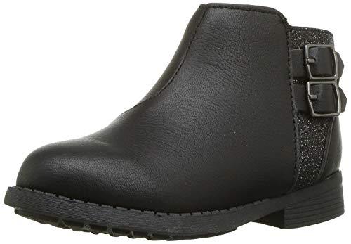 OshKosh B'Gosh Girls' Banu Ankle Boot, Black, 10 M US Toddler