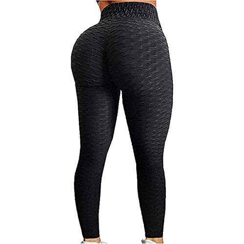 Women's High Waist Yoga Pants | Slimming Booty Leggings | 2021 Sexy Fitness Pants | Female Running Trousers, Sports Leggings (Medium, Black)