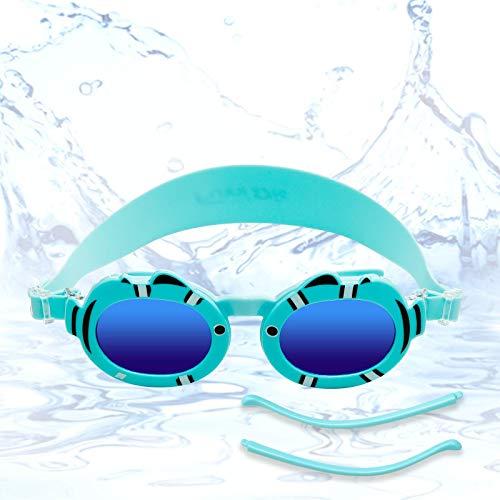 Funní Día 2 in 1 - Occhiali da nuoto per bambini e occhiali da sole polarizzati, senza perdite, anti-appannamento, occhiali da sole per nuoto con protezione UV per bambini MM-9902A
