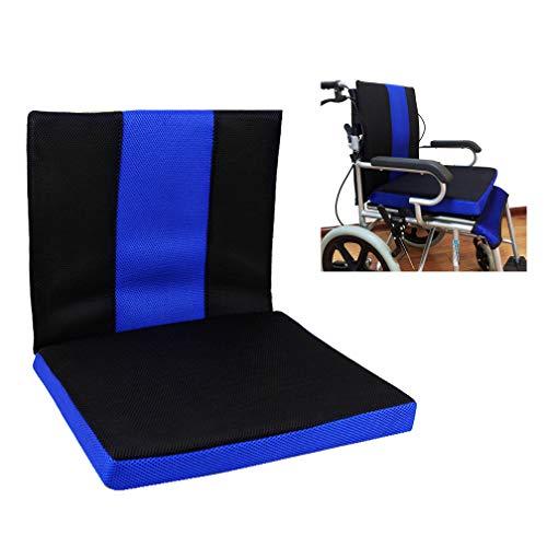 HRRH Rollstuhlkissen, Anti-Dekubitus Waben Kissen Atmungsaktiven Komfort Zurück Oxford Tuch Material Rollstuhlkissen, (16 * 17,7 * 1,6 Zoll)