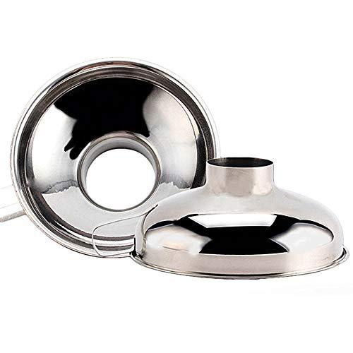 Lovemay 2 Stück Marmeladentrichter Trichter Edelstahl Einmachtrichter Einfülltrichter Marmelade Filter Set mit Griff (Größe S+Größe L)