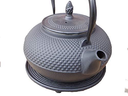 Gußeisen Teekanne Arare 1.5l schwarz m. Untersatz