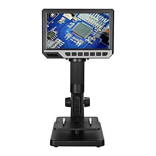 """Vogvigo 7"""" LCD Digital Microscope with 32GB SD Card USB Microscope 2000x Magnification HD 1080P Camera Support Take Pictures & Video with Double Lens Available 11 LED Lights"""