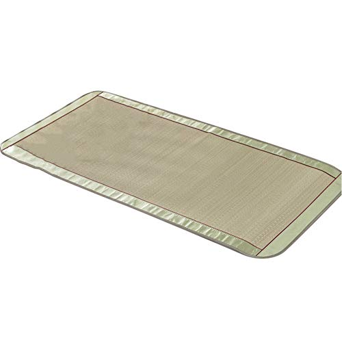 JIANXING Summer Sleeping Mat, Child Hygroscopic Breathable Smooth Glitch-free Foldable Natural Plant Fiber, 11 Sizes (Color : Green, Size : 70x140cm)