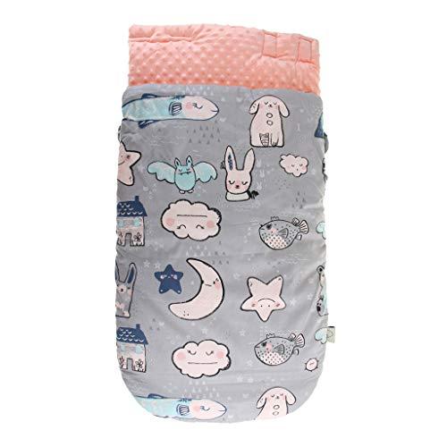 SM SunniMix Saco de Dormir de Algodón Suave Bolsa de Descansa para Bebé - C