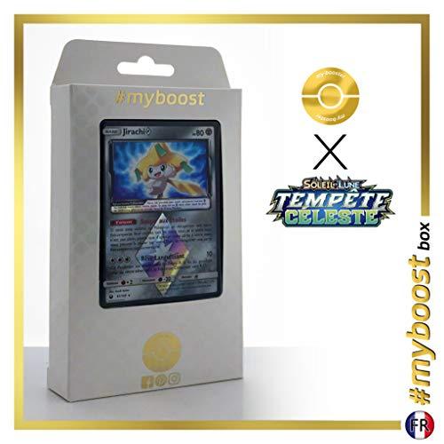 Jirachi 97/168 Holo Prisma - #myboost X Soleil & Lune 7 Tempête Céleste - Box di 10 Carte Pokémon Francese