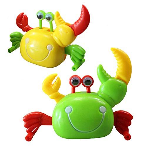 MMIAOO カニおもちゃ 知育玩具 知恵おもちゃ お風呂おもちゃ 時計じかけおもちゃ 子供誕生日プレゼント 脳トレ ステンレス解消 プラスチック製 2pcs