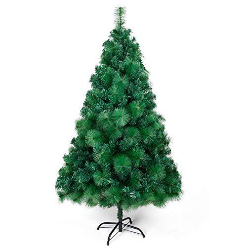 OZAVO Árbol de Navidad Blanco Artificial de Picea(Verde,180cm,960 Ramas,Decoración Navideña,Flocado con Copos de...