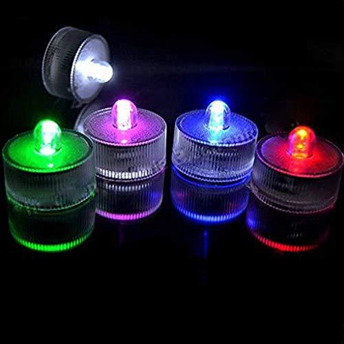 Ashui 5X LED Teelicht mit Farbwechsel - wasserdichte LED Lampe für Badewanne, Pool und Teich - LED Stimmungslicht für Party und Hochzeit (05 Stück - Schwimmkerze)