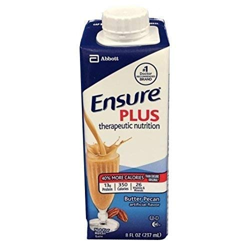 Ensure Plus, Butter Pecan, 8 Ounce Cartons - Case of 24