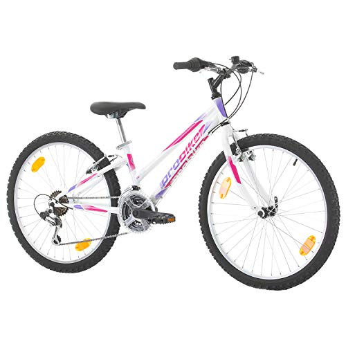 Multibrand, PROBIKE Adventure, 24 Pollici, 290mm, Mountain Bike, 18 velocità, Set parafango, per Donne, Bambini, Junior, Bianco (White)