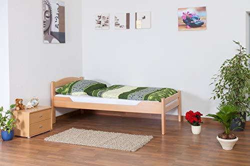 """Einzelbett\""""Easy Premium Line\"""" K1/2n, Buche Vollholz massiv Natur - Maße: 90 x 190 cm"""