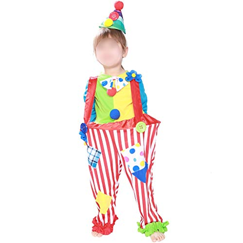 lem Disfraz de payaso para niños Atrezzo escénico Disfraz de payaso Disfraz de fotografía Monos para niños Rendimiento Onesie Stage Rendimiento Vestido