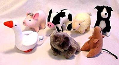 McDonald's Happy Meal Toy Babe A Little Pig Goes A Long Way - Complete Set of 7 Plush Animals