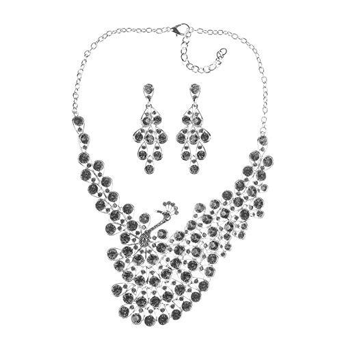 N / A Collares para Mujer, Conjunto de Joyas, Accesorios de Vestir de Moda para Disfraces de Mujeres Indias africanas, bisutería de Cristal Drag Queen para Mujeres, Carnaval