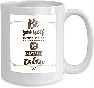 Tasse à café tasse à thé maison typographie affiche invitation carte de voeux être vous-même tout le monde déjà pris citat...