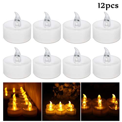 6PCS Halloween Bougies 6 cm Pumpkin Tea Lights Bougie Lumière Décoration Prop