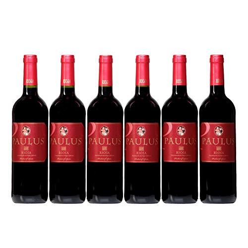 Paulus Joven Vino Tinto D.O.C Rioja Vino tinto Rioja en caja de 6 botellas 750 ml - Total: 4500 ml de Bodegas RM Rioja
