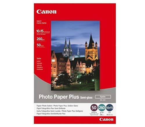 Canon SG-201 Fotopapier Plus Seidenglanz, matt (260 qm), A4, 50 Blatt
