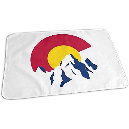 Matelas À Langer,Colorado Flag Mountain Cool Impression Tapis À Langer Pour Garçons Et Filles 50x70cm