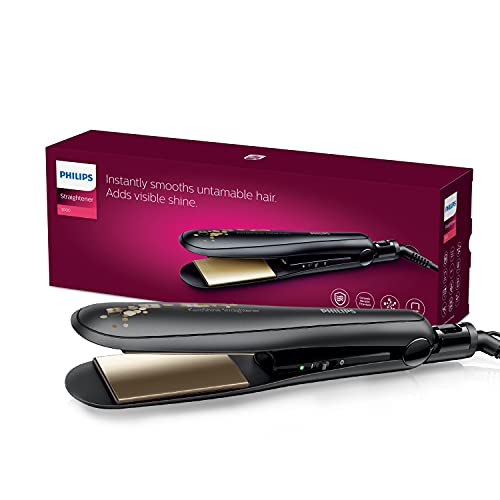 Philips BHS736/00 Kerashine Titanium Wide plate Straightener with SilkProtect Technology. Straighten, curl, with instant shine for thick long hair