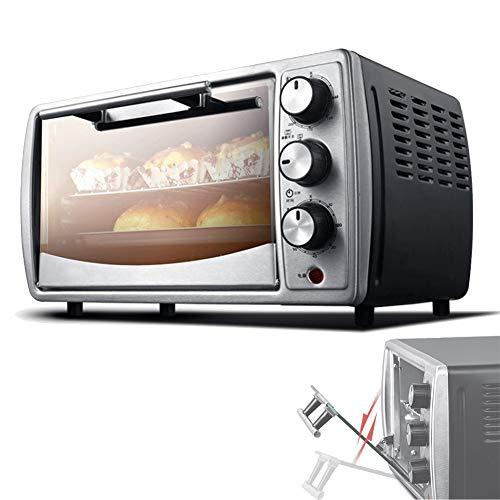 EnweLampi Mini-Ofen 12L Elektroofen, Elektrisches Multi-Toaster-Sandwich, Mit Temperatureinstellung 65-240 ° C Und 60-Minuten-Timer, 1000W Doppelt Verglaster Tür-Toasterofen, 3 Backfunktionen