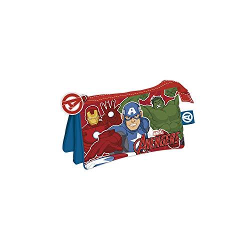 ARDITEX AV13371 Marvel Avengers Triple Pencil Case 21 x 11 cm