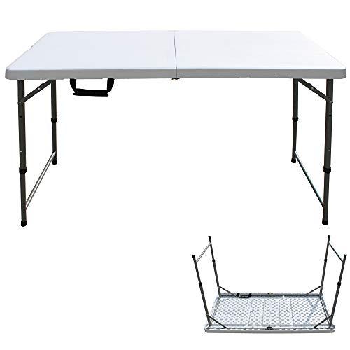 Mesa plegable de pícnic de 1,2 m, resistente, con asa de transporte,...