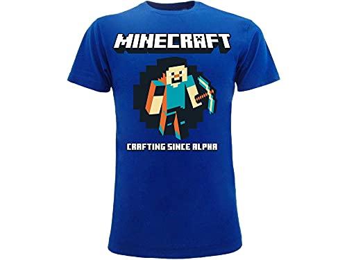 Camiseta oficial de Steve Crafting Since Alpha. Tallas para niños y jóvenes....