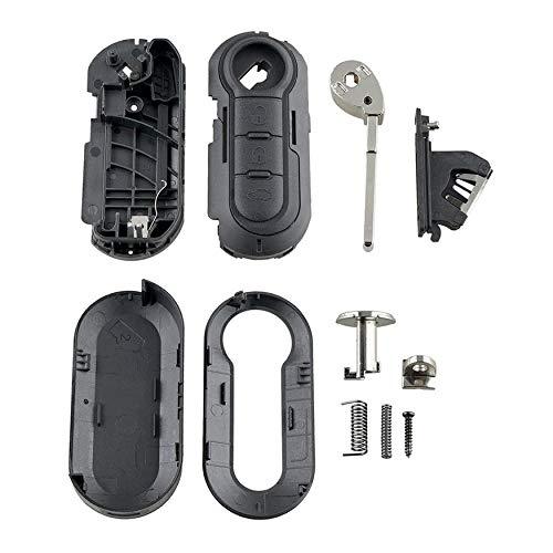 N / A se adapta a Fiat Gran Punto 500 BRAVO DUCATO PANDA 3 botones llave llavero remoto caso 3 llaves protector coche accesorios