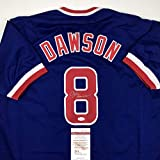 Autographed/Signed Andre Dawson Chicago Blue...