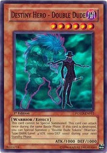 Yu-Gi-Oh  - Destiny Hero - Double Dude (POTD-EN012) - Power of the Duelist - 1st Edition - Ultimate Rare
