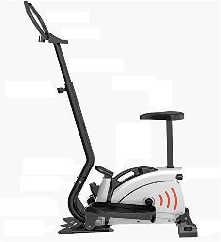 Sporting Cross Trainer, Fitness Cardio Weightloss Workout Machine, 2-in-1 Elliptical Cross Trainer Bicicleta estática para uso doméstico con asiento y pantalla de consola, Magnetic Cardio Workout Fitn