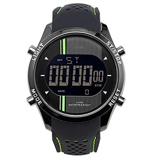 WTYU Reloj electrónico Deportivo Multifuncional, Reloj a Prueba de Agua de la Pulsera cómoda, Pantalla de la Fecha de la luz fría, para Adolescentes, para Hombre C