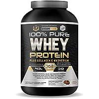 Whey Protein   Proteina whey pura con colágeno + magnesio   Tonifica y aumenta la masa muscular   Protege músculos y ayuda a la recuperación de los tejidos fibrosos   1000g de proteína suero de leche