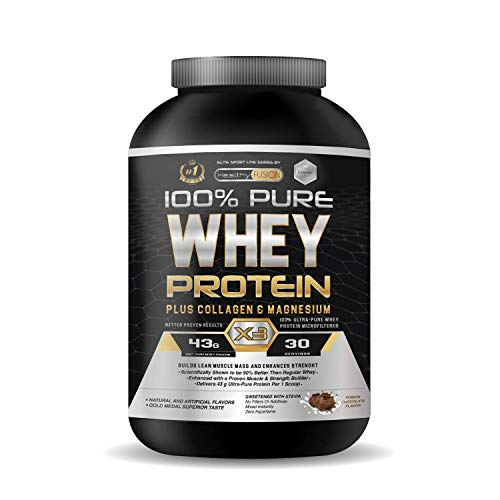Whey Protein Powder | Premium Pure Isolate whey Protein | with Collagen + Magnesium | Whey Protein Isolate Powder | Builds Clean Muscle Mass | Helps to Recover fbrous tissues | 30 Servings