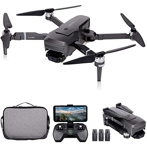 JJDSN Drone GPS con cámara 4K HD y cardán de 2 Ejes, Drone WiFi 5G para Adultos, Quadcopter RC Plegable con Motor sin escobillas, GPS Return Home, Sígueme, Bolsa de Almacenamiento, 1 batería