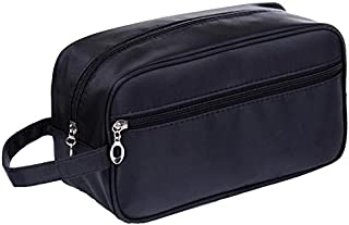 HOYOFO Travel Toiletry Bag Small Makeup Storage Bags for Men and Women, Black