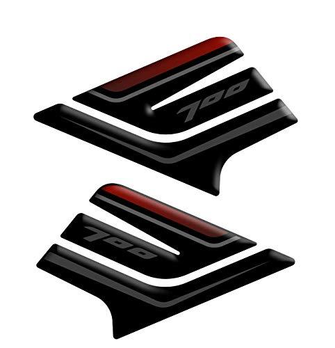 Protectores laterales para depósito de resina 3D compatibles con Yamaha Tracer 700 2020 L-096 (Red)