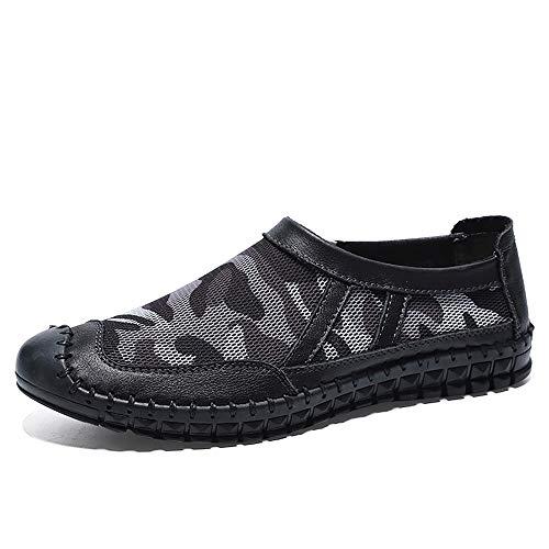 Zapatos de senderismo Bota de trabajo al aire libre para hombres Zapatos de escalada Slip en bandas elásticas Cuero genuino Puntadas con experiencia Sendero Runnin Sneaker al aire libre para caminar S