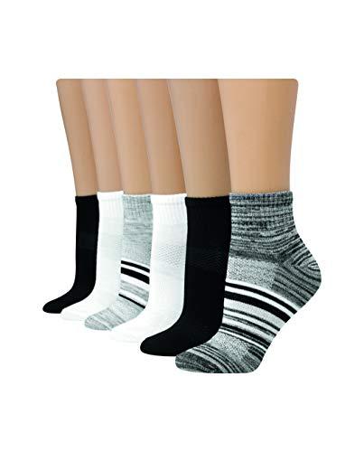 Hanes Women's 6-Pair Lightweight Breathable Ventilation Ankle Socks