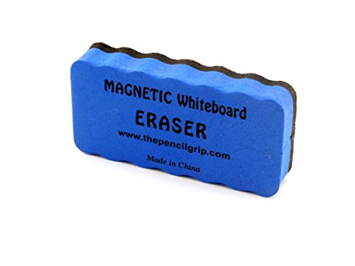The Classics Magnetic Whiteboard Eraser 2 x 4 Inches Ergonomic, Blue, 1 per Pack (TPG-352)