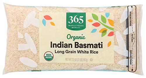 365 by Whole Foods Market Organic Long Grain Rice White Indian Basmati 32 Ounce