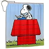 Snoopy Cartoon Duschvorhang Blickdicht Wasserdicht Polyester Stoff langlebig Anime 167,6 x 182,9 cm